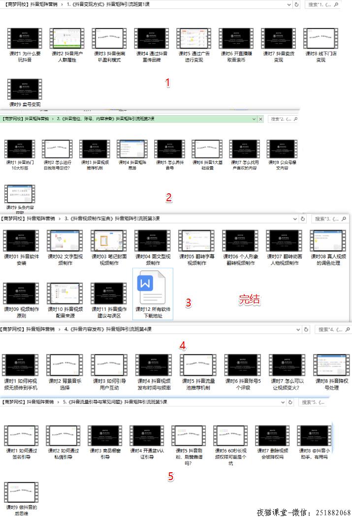 抖音短视频营销,商梦抖音矩阵营销班(完结)