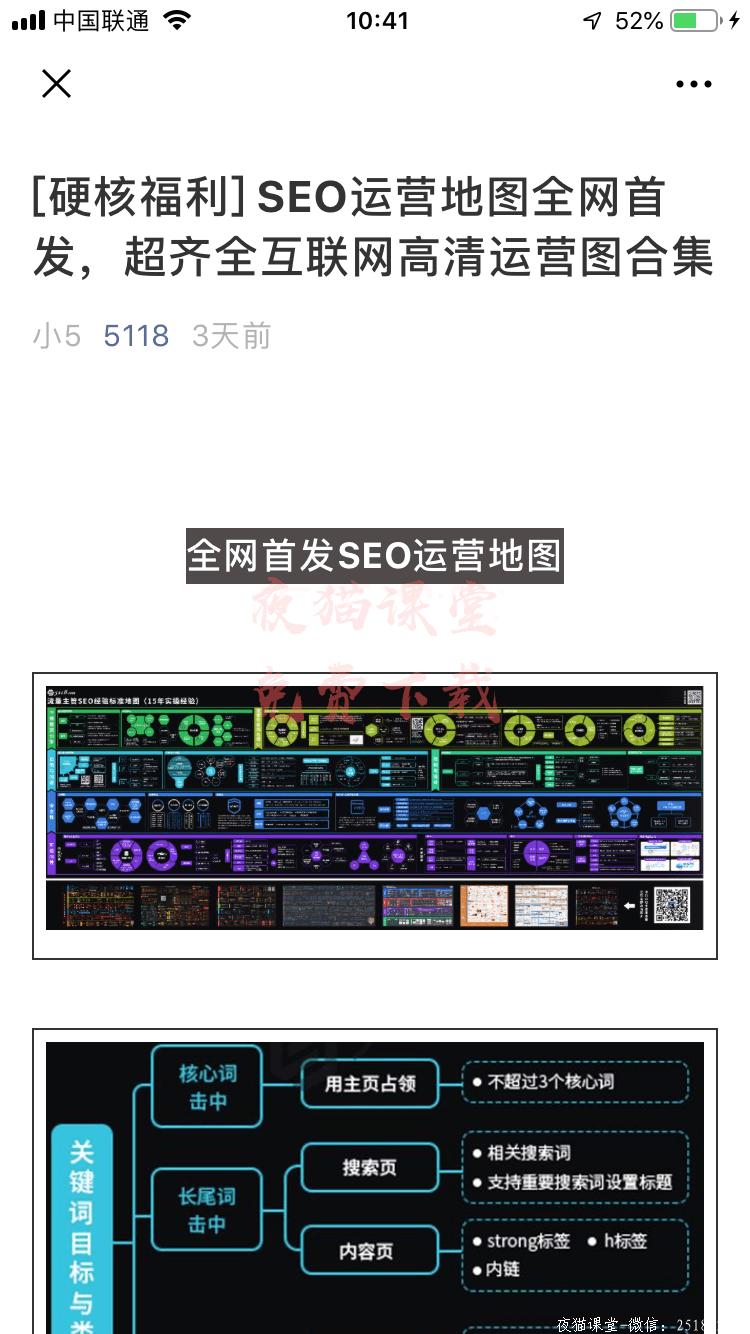 百度算法:SEO运营地图,互联网高清运营图合集!