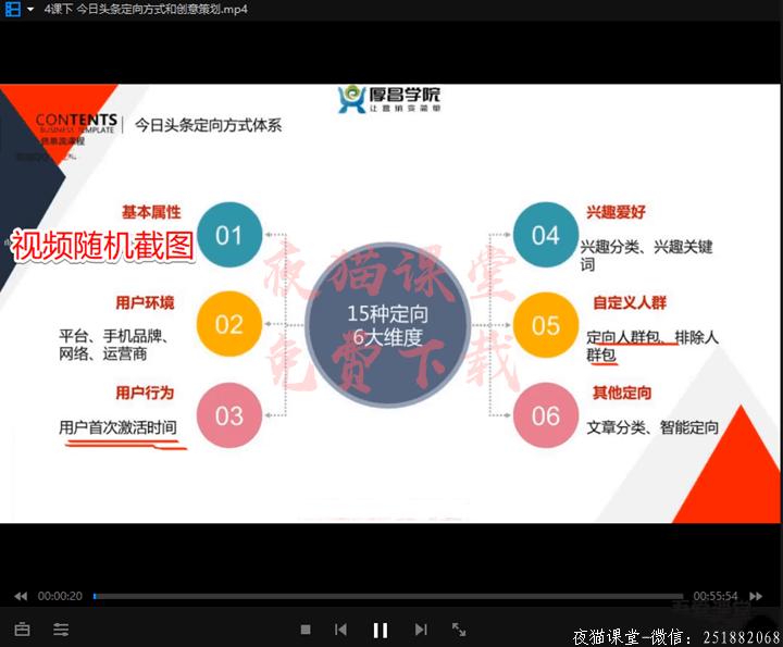 免费资源:厚昌学院赵阳柯南主讲信息流培训(第3期)