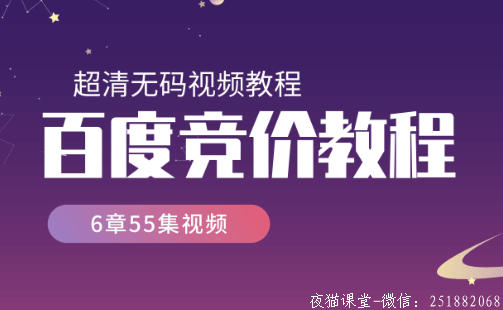 【2019版】百度竞价培训营销班视频教程(6章55集)