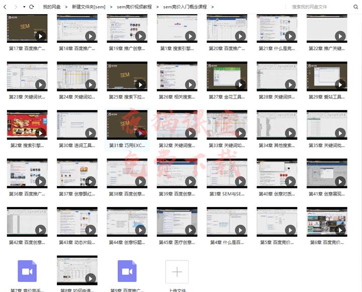 免费分享:SEM入门到实战视频教程,含思维导图和模板!
