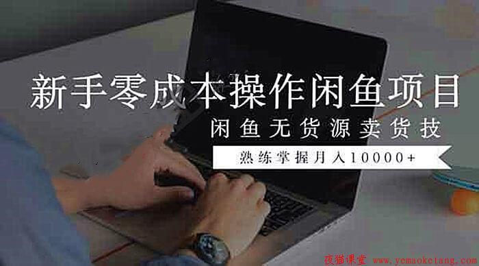 闲鱼无货源卖货技巧学习,新手零成本操作闲鱼课程!